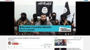 Une publicité pour The Guardian sous une vidéo de Daesh.jpg